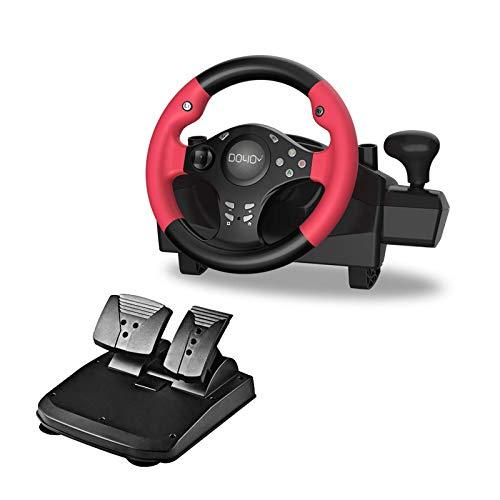 Gaming Racing Wheel 270 grados Motor Vibración Conducción con engranaje...