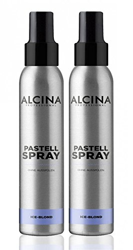 Pastell Spray Ice-Blond, 100 ml Farbkorrektur Spray für blondes Haar, ohne Ausspülen, Cool Ice