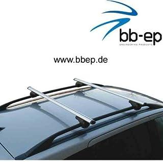 BB EP Menabo Einfacher Aluminium Dachträger 90302594 für BMW X5 (E53) mit normaler (hochstehender) Dachreling für U Bügel Montage oder T Nut Montage mit 14 mm Breite