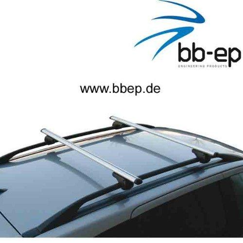 BB-EP-Menabo Einfacher Aluminium Dachträger 90302540 für FIAT Panda Cross mit normaler (hochstehender) Dachreling für U-Bügel Montage oder T-Nut Montage mit 14 mm Breite