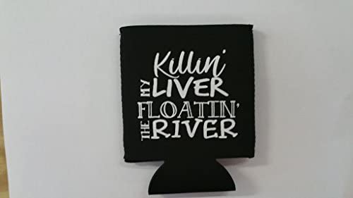 For 1 Custom made Collapsible Neoprene Koozie Killin my Liver PLEASE CHECK OUT THE COLORS AND product image
