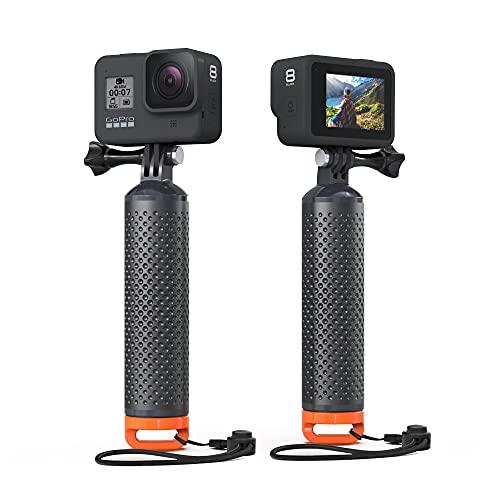 Sametop Schwimmender Handgriff Wasserdicht Handgriff Floating Hand Grip Tauchen Stock Kompatibel mit GoPro Hero 9, 8, 7, 6, 5, 4, Session, 3+, 3, 2, 1, Hero (2018), Max, DJI Osmo Action Kameras