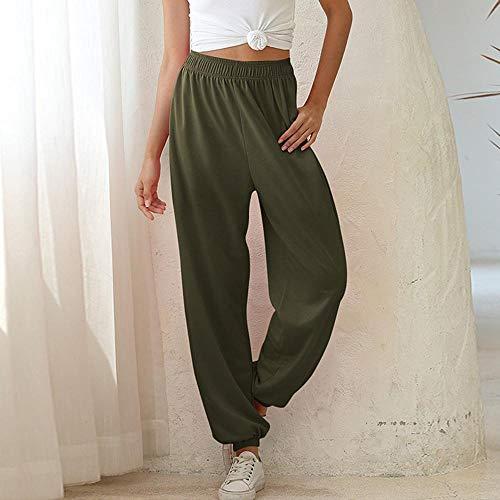 Leggings Turnhose Yoga-Hose Loose Joggers Wide Leg Sweatpants Damenhose Plus Size Weiche Hose Mit Hoher Taille Streetwear Koreanische Casual Yoga Hose Femme S Thingreen