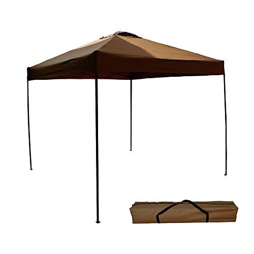 MERMONT テント タープ タープテント 2m ベンチレーション 付き【ブラウン】
