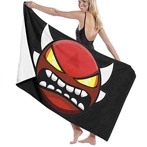 XCNGG Geometry Dash Microfiber Beach Towel,Portable Travel Towel, Quick Drying Lightweight Body Bath Towels, Shower Beach Blanket Sand Free Towel