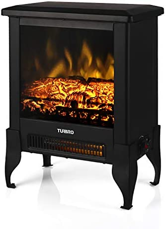 TURBRO Suburbs TS17 Compact Electric Fireplace Stove Freestanding Stove Heater with Realistic product image