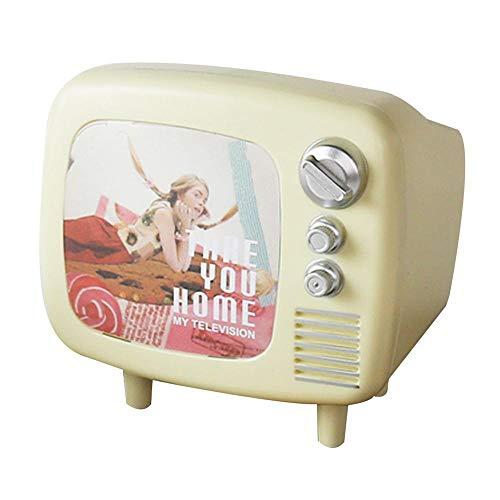 GUOYXUAN Sparbüchse Nette Vintage TV Form Geld Sparen Box Sparbank mit Fotofenster Wohnkultur Fotografie Zubehör Kinderspielzeug