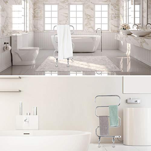 Simpleliving Towel Warmer Floor Standing Heated Towel Rack 5 Floor Curved Stainless Steel Laundry Drying Rack