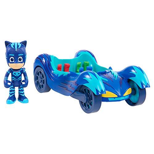 """PJ Masks Super pigiamini, """"Gattomobile di Gattoboy"""", veicolo e personaggio , Modelli/Colori Assortiti, 1 Pezzo"""