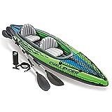 YMXLXL Kayak Hinchable, Kayak de Mar 2 Personas, Canoa Inflable, con Bomba y Remo, Carga Máxima 180kg, para Lagos y Costas 351X76X38cm Verde