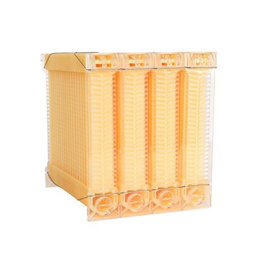 Happyyami Cajas de Colmenas Cajas de Plástico para Apicultura Cajas de Cría de Abejas Marcos de Colmena Goteo Automático Caja de Cosecha de Miel para Apicultura Suministros para Apicultura