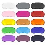 Dreamtop - Juego de 15 antifaces multicolor para dormir, con almohadilla para la nariz, para mujeres, hombres, niños, viajes, etc, 15 colores