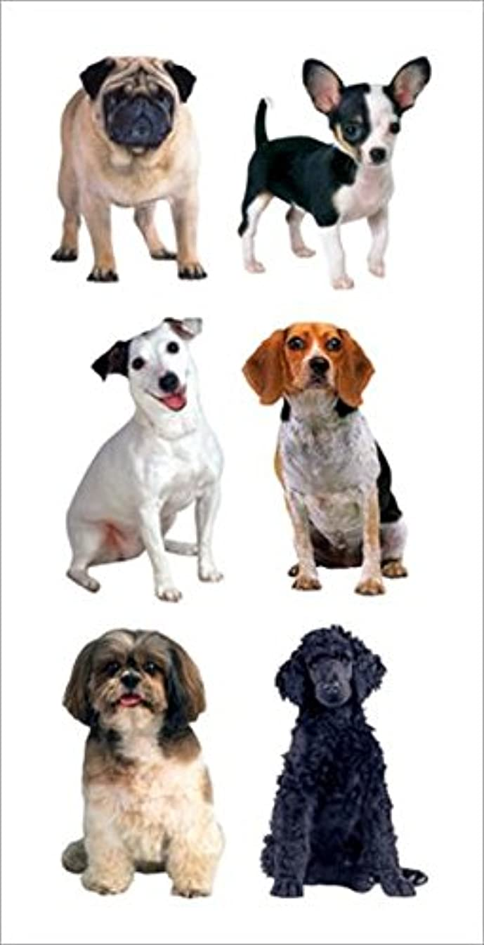 Paper House Productions ST-2128E Photo Real Stickypix Stickers, 2-Inch by 4-Inch, Small Mixed Dogs (6-Pack)