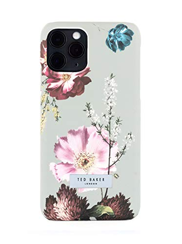 Ted Baker (テッドベーカー) iPhone11ProMAX ケース スリム Hard Shell Case 花 保護 カバー (ForEST FRUITS GREY)