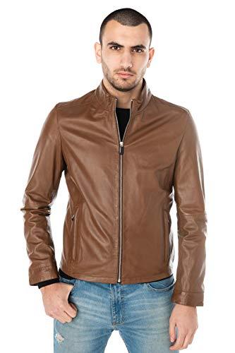 OAKWOOD RON Jacks/Blazers hommes Cognac Leren jas/kunstleren jas