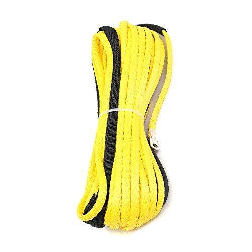 Pukido Kunststoff-Seil für Auto-Seilwinde, 5500+ LBs + Ummantelung für ATV UTV, gelb