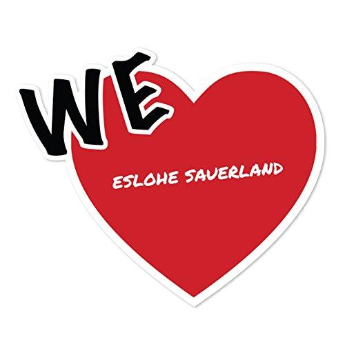 JOllify Aufkleber - ESLOHE SAUERLAND – Farbe: Design: We Love - Wir lieben