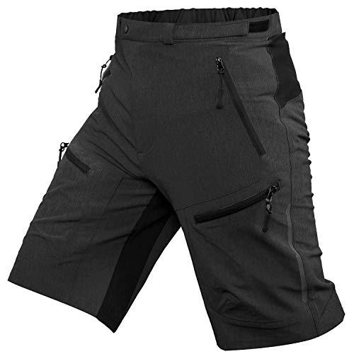 Ally MTB Hose Herren Radhose, Mountainbike Hose Fahrradhose Herren Kurz, Outdoor Sport Herren Radlerhose MTB Bike Shorts (Holzkohle, XL/cm(Taille:90-95,Hüften:110-115))