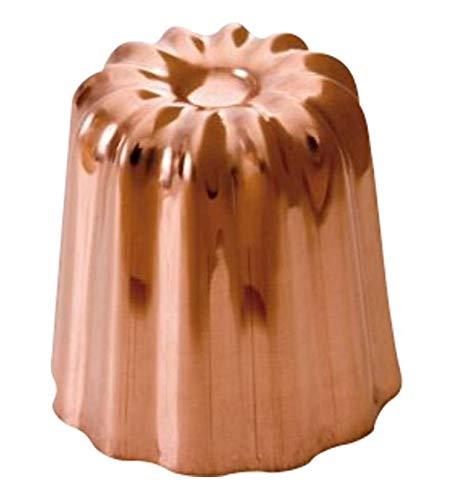 Mauviel 418035 Moule cannelé cuivre 3.5mm et 3.5 cm de diamètre - lot de 3