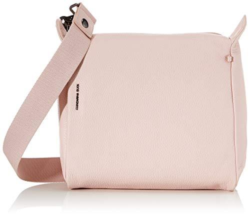 Mandarina Duck Mellow Leather Tracolla, Bolsa de mensajero para Mujer, Rosa (Rose Metal), 10x24x25.5 Centimeters (W x H x L)