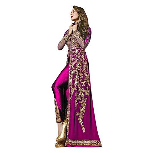 Anarkali Salwar Kameez Designer Muslim Bollywood Pakistani Indian Party Wear Damen Kleid 9215 Gr. 40, blau