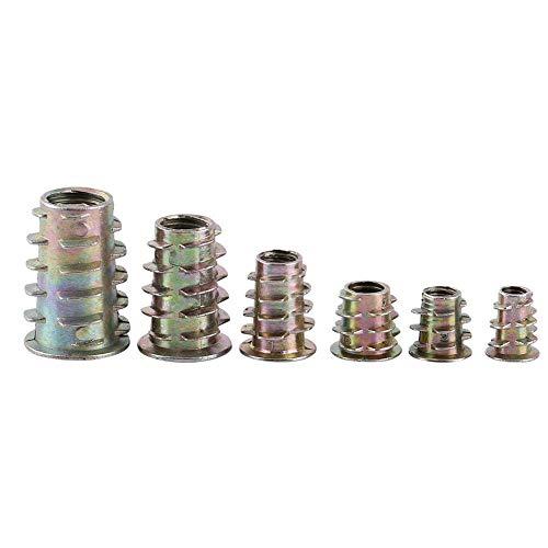 50 stücke Einschraub Sechskantantrieb Gewindeeinsatz Muttern Sortiment M4/M5/M6/M8/M10 Zink-legierung