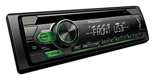 Pioneer DEH-S110UBG | 1DIN RDS-Autoradio mit grüner Tastenbeleuchtung | Display weiß | Android-Unterstützung | 5-Band Equalizer | CD | MP3 | USB | AUX-Eingang | ARC App