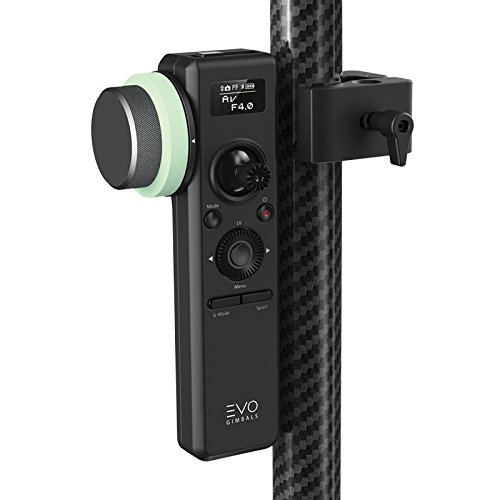EVO Gimbals Pro-Focus Remote with Follow Focus Control for EVO RAGE3 or Zhiyun Crane 2 Camera Stabilizer - Camera Setting Control, OLED Screen Plus G-Mode Remote Motion Tracking