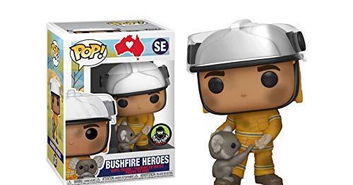 USA OFFICIAL Funko Pop Australia Bushfire Heroes EXCLSUIVE POPCULTCHA SE Koala 9 cm Figuras