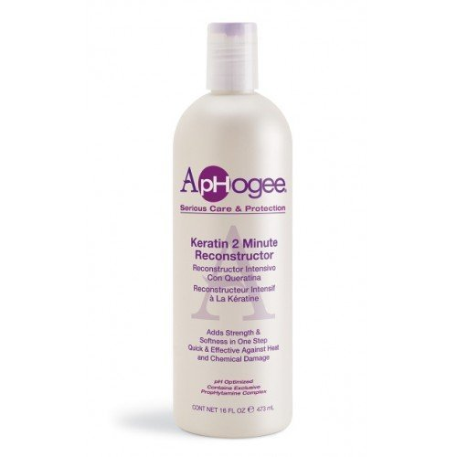 Aphogee Intensive Two Minute Keratin Reconstructor Restores Softness & Elasticity & Repairs Damaged Hair 16Oz/473Ml by Aphogee
