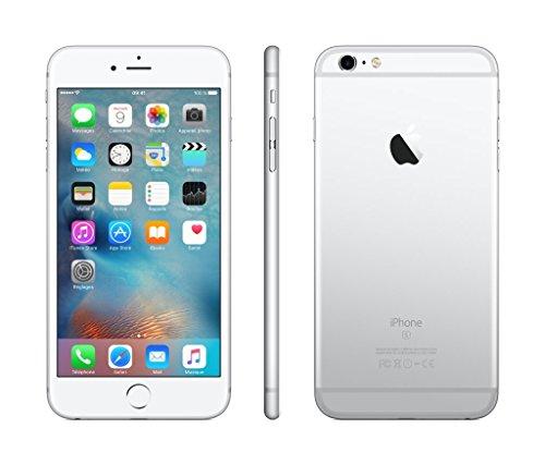 Apple iPhone 6s Plus Smartphone (13,9 cm (5,5 Zoll) Display, Plus 64GB interner Speicher, IOS) silver (Generalüberholt)
