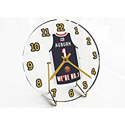 College Basketball USA - We're Number ONE College Hoops Jersey Themed Clocks - Support Your Team !!! (Auburn Tigers)