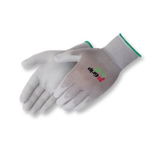 Liberty P-Grip Ultra-Thin Polyurethane Palm Coated Plain Knit Glove with 13-Gauge Gray Nylon Shell, X-Large, Gray (Pack of 12)