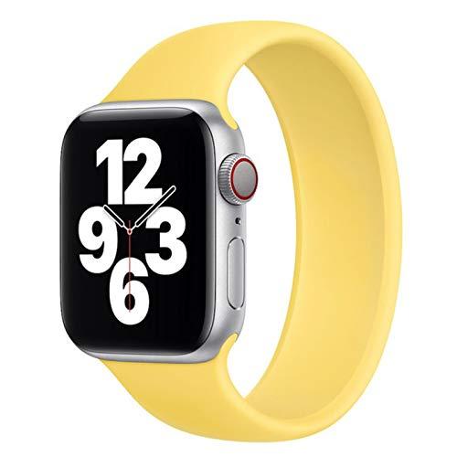 Banda de bucle deportivo para Apple Watch Series 6 SE 44 mm 40 mm Correa de silicona para Apple Watch 6 5 4 3 44 mm 40 mm 42 mm 38 mm Correa de bucle individual