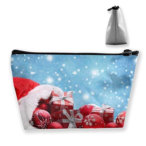 Bolso de Maquillaje de Bolas de Navidad Bolsa de Viaje de Almacenamiento...