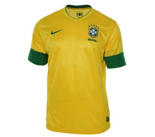 World Cup Nike Brazil National Team 2012 Home Jersey - Maize (Medium)
