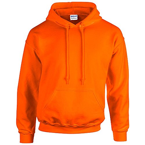 Gildan - Unisex Kapuzenpullover \'Heavy Blend\' , Safety Orange, Gr. XXL