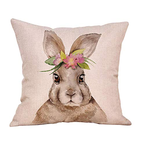 Janly Clearance Sale Easter Day Pillow Cover Sofa Cover Cushion Cover Custom Home Decoration , Pillow Case forHome & Garden , Easter St Patrick's Day Deal (C)