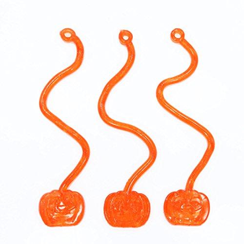 Fun Express Vinyl Glitter Sticky Jack-O-Lantern Halloween Pumpkins - 10 Pieces