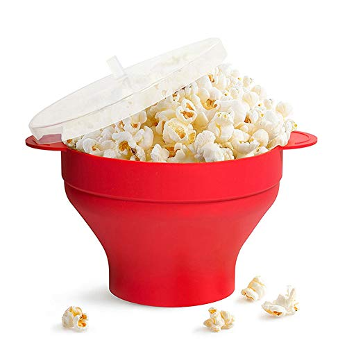 Affordable xlpace Silicone Microwave Popcorn Popper with Lid Home Microwave Popcorn Makers with Hand...