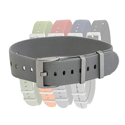 Pajama Stretch Elastic Watch Straps by BluShark Seal Gray 20mm