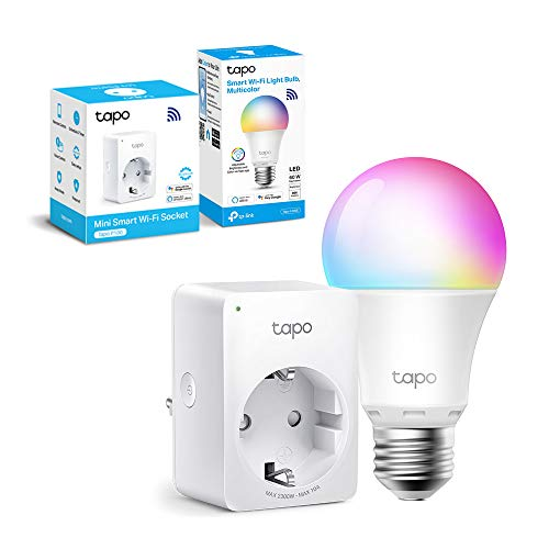 TP-Link Lampadina WiFi Intelligente LED Smart Multicolore, E27 Compatibile con Alexa e Google Home, 806...