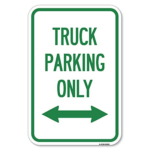 """SignMission Reserved Parking Sign Truck Parking Only with Bidirectional Arrow 12"""" X 18"""" Heavy-Gauge Aluminum Rust Proof Parking Sign Protect Your Business & Municipality Made in The USA (A-1218-23031)"""