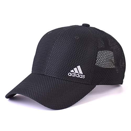 アディダス(adidas) ビックサイズ 機能素材 帽子 キャップ 大きいサイズ ゴルフ メッシュキャップ スポーツ アスリート (01 ブラック)