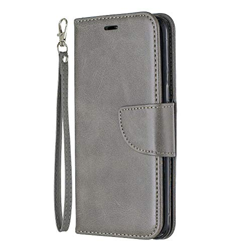 Lomogo Galaxy S8 / G950 Hülle Leder, Schutzhülle Brieftasche mit Kartenfach Klappbar Magnetverschluss Stoßfest Kratzfest Handyhülle Case für Samsung Galaxy S8 - LOBFE150207 Grau