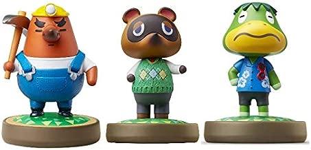 Mr. Resetti - Tom Nook - Kapp'n - Amiibo (Animal Crossing Series) for Nintendo Switch - WiiU, 3DS 3 Pack (Bulk Packaging)