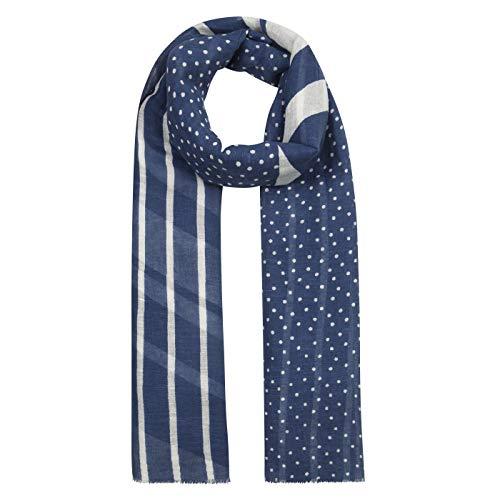 Maritimer Mustermix-Schal aus Baumwolle und Leinen