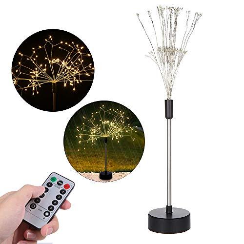 Lilideni 120 LEDs AST Baum Lichter Tischlampe Herzstück Indoor Outdoor Künstliche Dekoration Helligkeit Einstellbar Fernbedienung USB Wiederaufladbare Batterien Angetrieben IP44 Wasserbeständigkeit