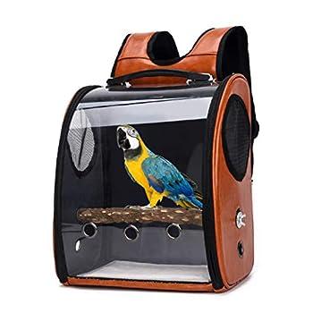 ❤ Sac de transport pour animal domestique, perroquet, oiseau, housse transparente respirante. rose