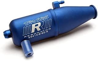 Traxxas 5541X Resonator Tuned pipe, R.O.A.R. legal, Blue-Anodized Aluminum (single chamber)